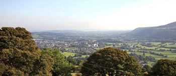 Monmouthshire – mountain view of Abergavenny